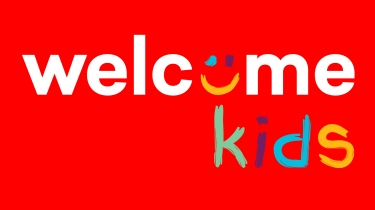 kids powerpoints - logo on red for PPT