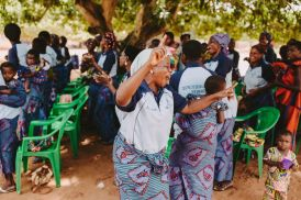 Mothers at Eglise Evangelique de la Mission Chretienne Legbanou worshipping together