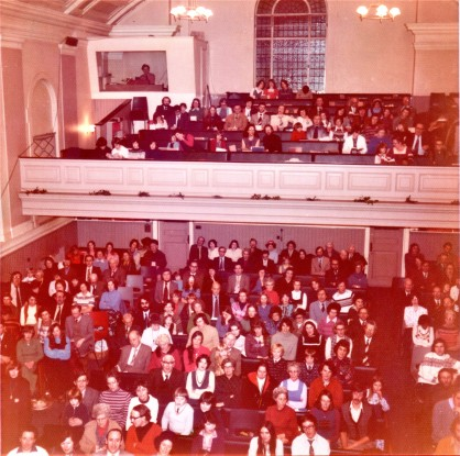 Last meeting at Percy Street Baptist Church, 31st Dec 1976